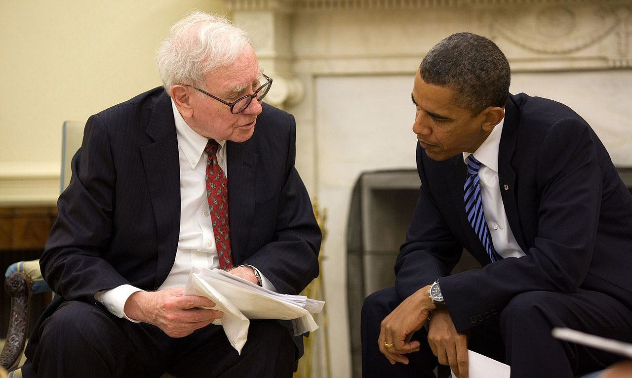warren Buffett and obama